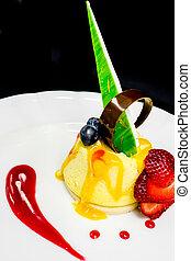 Plated Restaurant Dessert