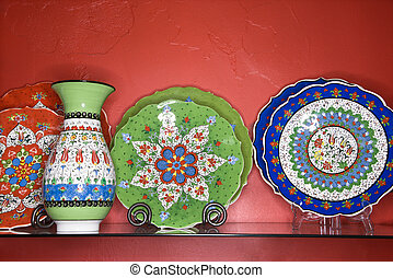 Plates and vase.