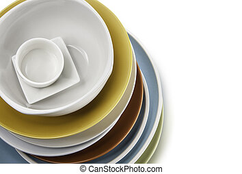 plates bowl isolated on a white background