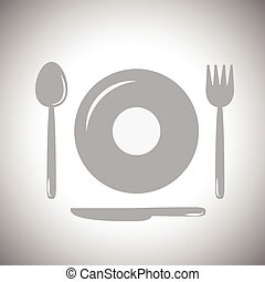 Plates, spoons, forks and knives(fo