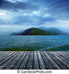 platform beside sea