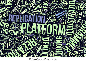 Platform, conceptual word cloud for business, information technology or IT.