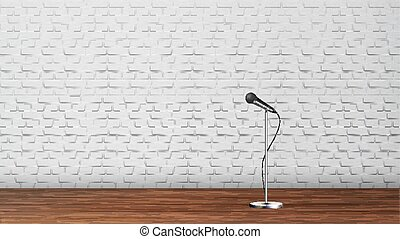 Platform For Stand Up Comedy Show Template Vector