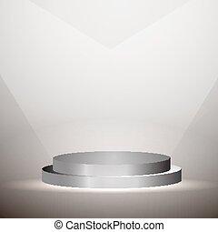 Platform Graphic Illuminated - Vector illustration of...