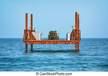 Platform in the Sea