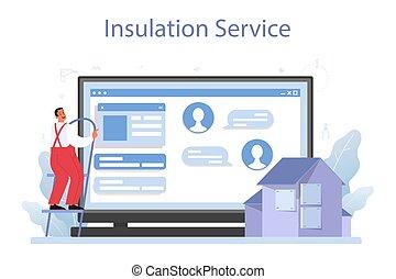 platform., térmico, isolação, acústico, ou, serviço, insulation., online