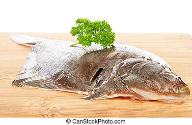 platija, pez crudo