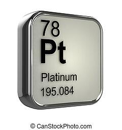 platine, 3d, élément