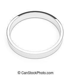 platine, anneau, ou, argent, isolé
