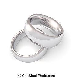 platine, anneaux, mariage