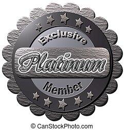 platine, exclusif, membre