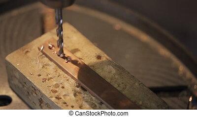 platine, métal, forets, machine, électrique, grounding., ...