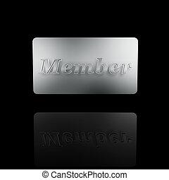 platine, membre, carte