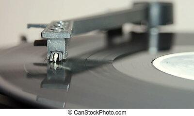 platine, stylus, enregistrement, courant, vinyle, long