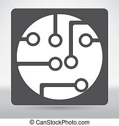 platine, technologie, ikone