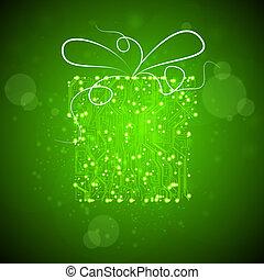 platine, vektor, hintergrund, technologieabbildung, weihnachtsgeschenk, eps10