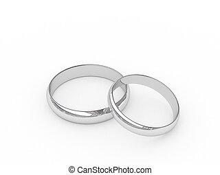 platino, anillos, boda