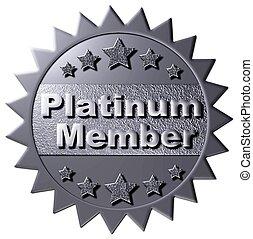 platino, calidad de miembro