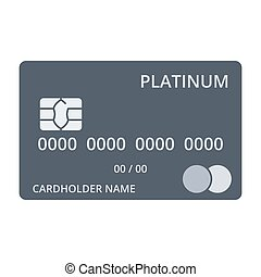 Platinum Debit Card - Platinum debit card templates in flat...