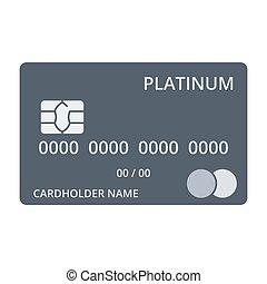 Platinum Debit Card - Platinum debit card templates in flat...