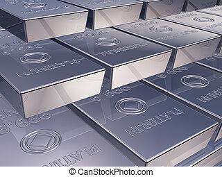 Illustration of platinum reserves piled high in a stack