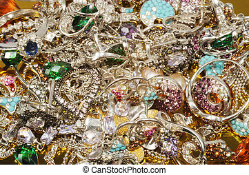 Platinum jewelry with gems - Jewelry from white gold with...