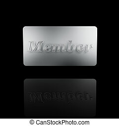 platinum member card isolated on dark background