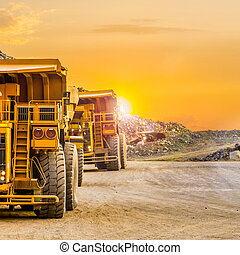 Platinum Palladium Mining and processing, Dump Truck for transporting rocks
