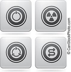 Platinum Square 2D Icons Set: Abstr