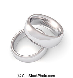 Platinum Wedding Rings - A his and hers set of platinum...