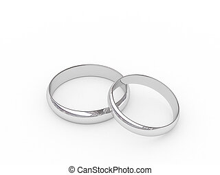 Platinum wedding rings - Platinum or silver wedding rings on...