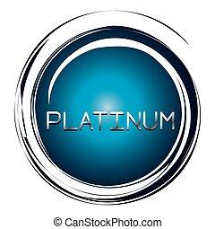 platinum word on blue button