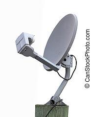 plato, auricular de satélite