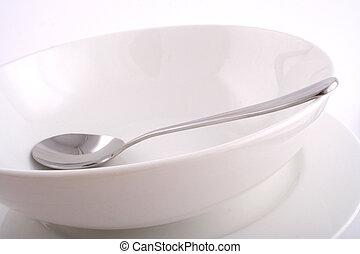 plato, cuchara