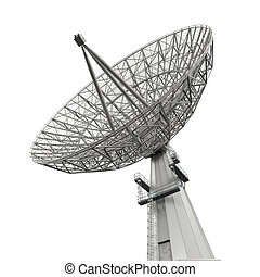 plato, satélite, antena