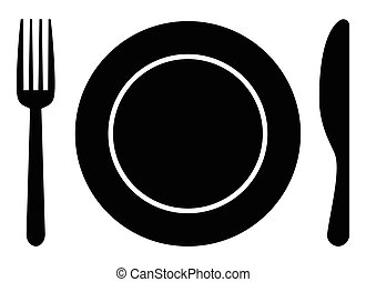 Tenedor cuchara plato icono tenedor restaurante for Plato tenedor y cuchillo