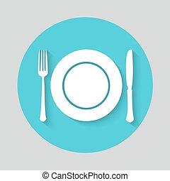 Tenedor plato icono de cuchillo restaurante icono for Plato tenedor y cuchillo