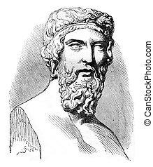 Plato, vintage engraving. - Plato, vintage engraved...