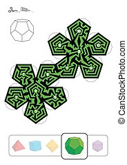 Platonic Solid Dodecahedron Maze
