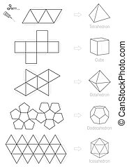 Platonic Solids Craft Pattern - Platonic solids - coloring...
