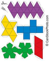 Platonic Solids Paper Model Templat