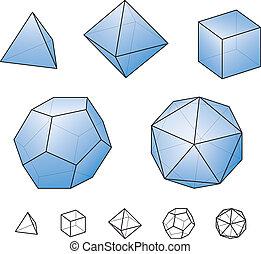 Solides platoniques - Solides platoniques - communs, convexes ...
