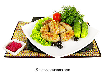 platos, carne