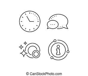 plats, signe., icon., vecteur, nettoyage, ligne, lave-vaisselle