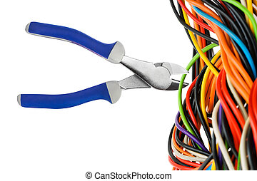 plattång, och, kabel