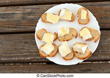 Platte,  camembert