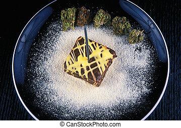 platte, essbare , topf, -, heinzelmännchen, marihuana