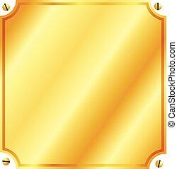 platte, gold