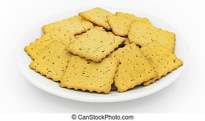 platte, kekse, weißes