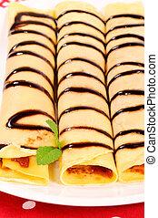 platte, pfannkuchen